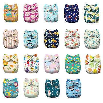 Unisex Cloth Diapers One Size Reusable Washable Pocket Nappy + Insert
