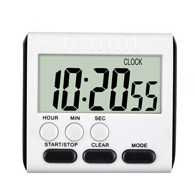 LCD Digital Kitchen Cooking Timer Count-Down/Up Alarm Clock  Memory Mode Magnet