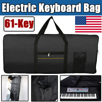 Portable 61-Key Electric Keyboard Piano Padded Case Gig Bag Advanced Fabrics USA
