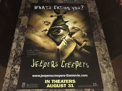 Jeepers Creepers Rare Signed Original 1-Sheet Poster Jonathan Breck Victor Salva