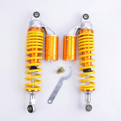 "PAS 2pcs Shock Absorbers 370MM 14.6"" Round Ends Motorcycle Replacement Universal"