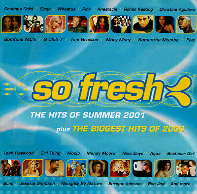 So Fresh the Hits of Summer 2001 + Best of 2000 double cd compilation
