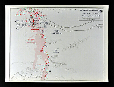 West Point WWII Map North Africa Battle of El Alamein Rommel Panzers Tanks