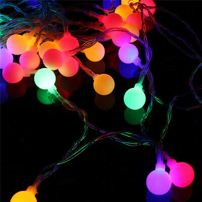 Wedding Party Decoration LED Colorful Cotton Ball Fairy String Light Decor LC