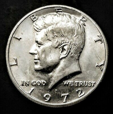 """1972-P D /""""GUARANTEED/"""" UNCIRCULATED KENNEDY HALF DOLLARS FROM SEALED CELLOPHANES"""