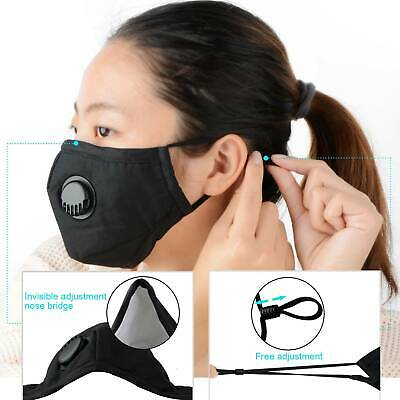 5Pcs Cycling Sport Anti dust Mouth Mask with Activated Carbon Replacement Filter
