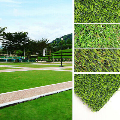 Luxury Artificial Grass Astro Turf Fake Lawn Realistic Natural Green Garden Sod
