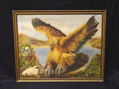 Large Classical European School Early 20th Century Griffin Mythical Antique