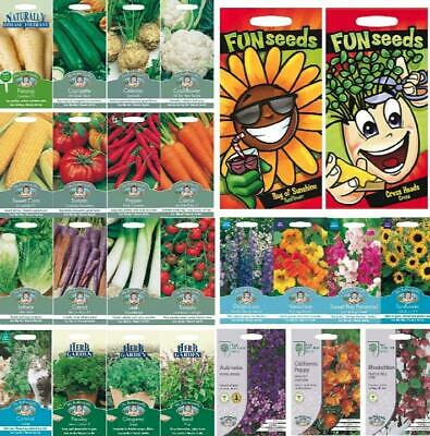 Mr Fothergills Garden Flowers, Vegetable, Herb Seeds Mixed Plants Pack UK