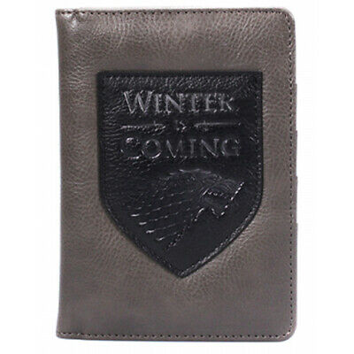 Game of Thrones Winter Is Coming House Stark Passport Wallet - Gift Boxed