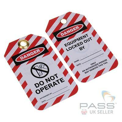 Lockout Tagout Tags - 'Do Not Operate Switch Symbol' - Pack of 10