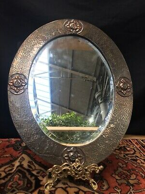 Antique Arts And Crafts Copper Mirror Liberty Style