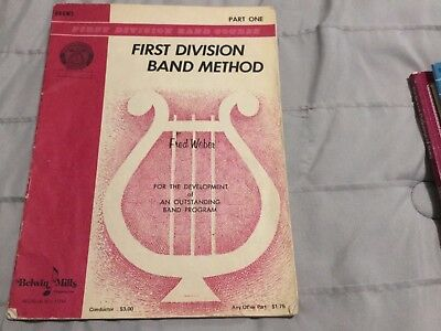 First Division Band Course: 1st Division Method Part 1 by Fred Weber 1968