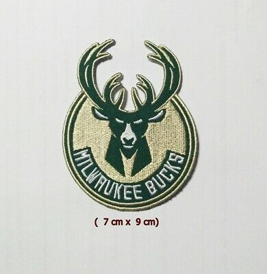 Milwaukee Bucks  NBA Sport Logo  Embroidery Patch Iron and sewing on Clothes