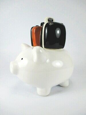 Spardose Koffer Reisekoffer Sparschwein 18 cm money bank luggage