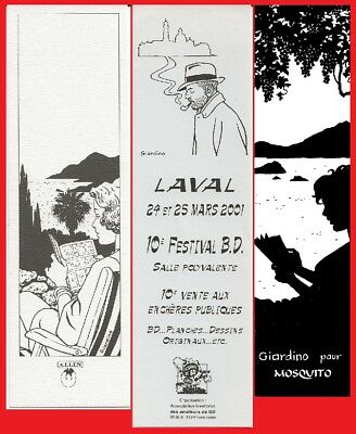 Giardino - Lot 3 Marque-Pages - Alien - Mosquito - Festival Bd Laval
