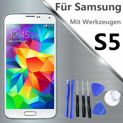 Per Samsung Galaxy S5 SM-G900F Display LCD touch screen i9600 bianco