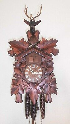 musical carillon cuckoo clock black forest wall clock made in germany 3 wight