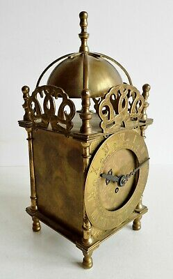 Rare Old Smith's Brass 8-Day Lantern Clock - Rare Wind-Up Model - Fully Working