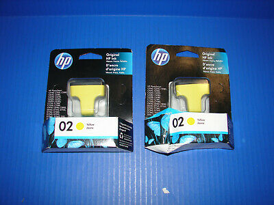 GENUINE HP Photosmart 02 Yellow Ink Cartridge EXP OCT 2020 *BRAND NEW* READ! >>>