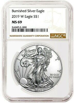 2019 W Burnished Silver Eagle NGC MS69 - Brown Label
