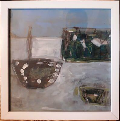 "Stunning Cornish School Abstract Study Titled ""Pale Sea Newlyn"""