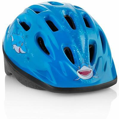 M Merkapa Kids Bike Helmet Adjustable 3D Shark Bicycle Helmets for