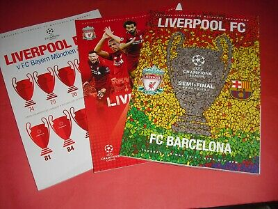 2018/19 Champions League Liverpool Home Programmes - Choose From List (2019)