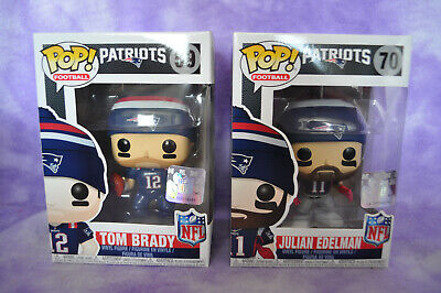 Funko POP NEW ENGLAND PATRIOTS TOM BRADY 59, & JULIAN EDELMAN 70 SUPER BOWL NFL
