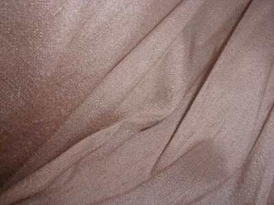 Vintage 2 Yds Ashes Of Roses Pink Shantung Fabric w Silk Slubs Dress Millinery
