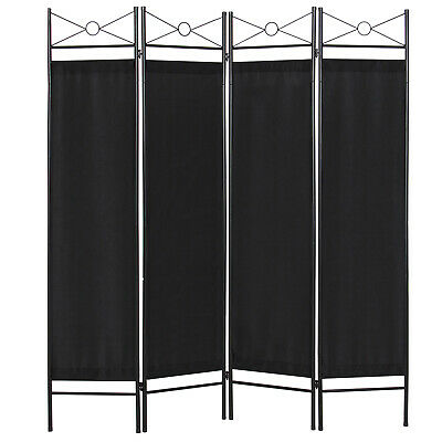 BCP 6ft 4-Panel Folding Privacy Screen Room Divider Decoration Accent