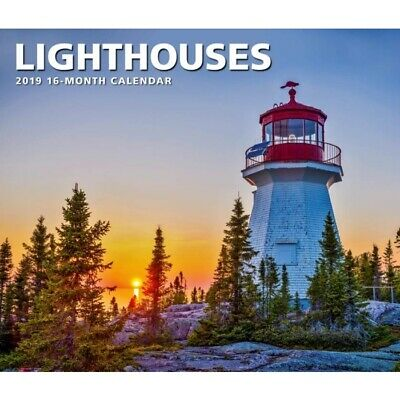 2019 Lighthouses Deluxe Wall Calendar,  by Calendar Ink