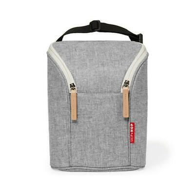 Skip Hop Grab & Go Double Bottle Bag (Grey Melange) Skip Hop Free Shipping!