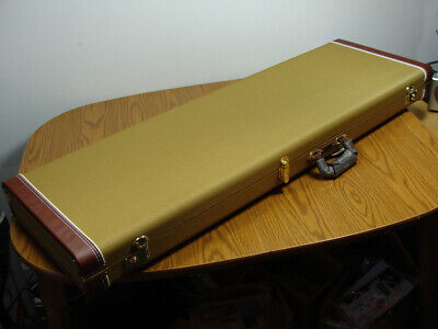 Fender P Jazz Bass Tweed HARDSHELL CASE Precision Bass Guitar Vintage Style