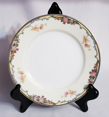 Norotake Oxford Plate Floral Gold Rim Dinner Fine China