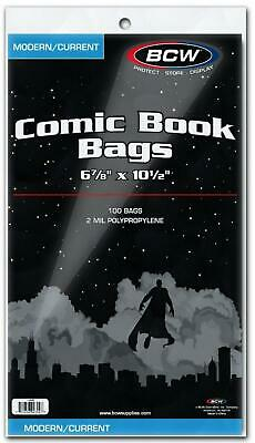 Current Comic Book Bags - 6 x 10 - BCW Free Shipping!