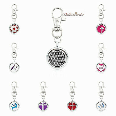 Aromatherapy Necklace Fragrance Essential Oil Diffuser Locket DIY Keychain+Ring