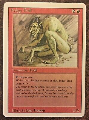 1 PLAYED Sedge Troll Red Revised 3rd Edition Mtg Magic Rare 1x x1
