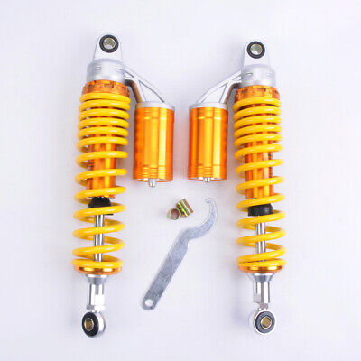 "PAS 2PCS Shock Absorbers 380MM 15"" Round Ends Motorcycle Replacement Universal"