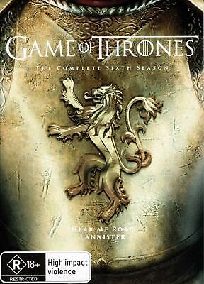 Game Of Thrones - The Complete Sixth Season - DVD Region 4 Free Shipping!
