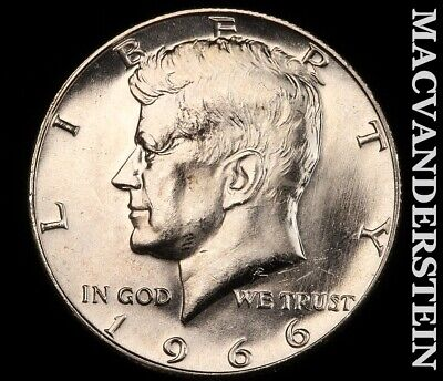 1966 Kennedy Half Dollar-Choice Gem Brilliant Uncirculated!! Luster!! #G3781