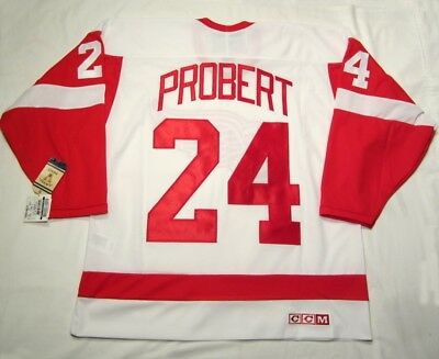 BOB PROBERT sz XL - Detroit Red Wings CCM 550 VINTAGE series Hockey Jersey White