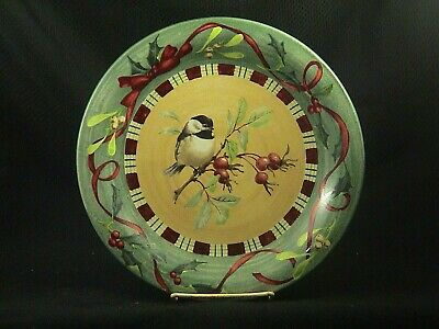 LENOX WINTER GREETINGS CHICKADEE DINNER PLATE by CATHERINE McCLUNG