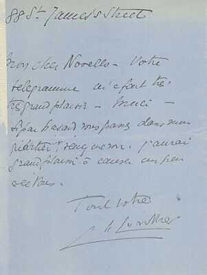 *Autograph Letter To Great British Stage Star Ivor Novello*