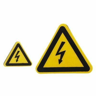 Warning Sticker Adhesive Labels Electrical Shock Hazard Danger Notice Safety PVC