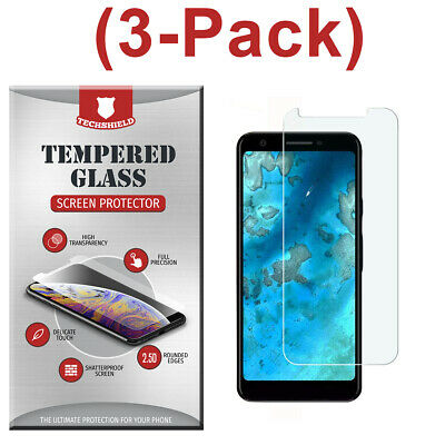 3-Pack Tempered Glass Screen Protector For Google Pixel 3A / Pixel 3A XL 2019