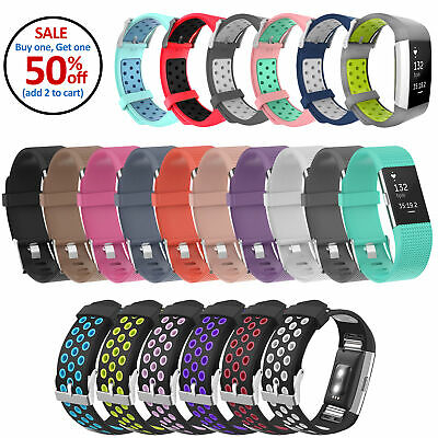 Replacement Sports Silicone Strap Band Bracelet For Fitbit Charge 2, Charge 2 HR