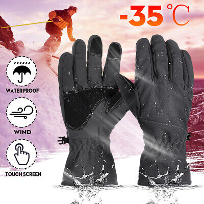 Mens Womens -30℃ Waterproof Warm Thermal Winter Ski Snow Snowboard Gloves Sports