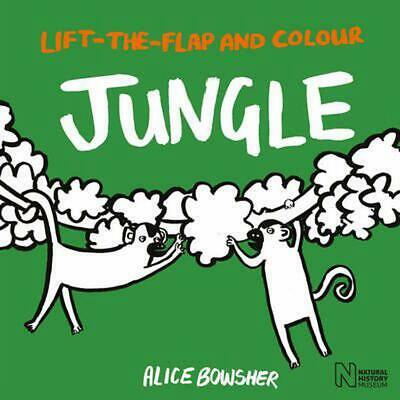 Lift-the-flap and Colour Jungle by Natural History Museum Paperback Book Free Sh