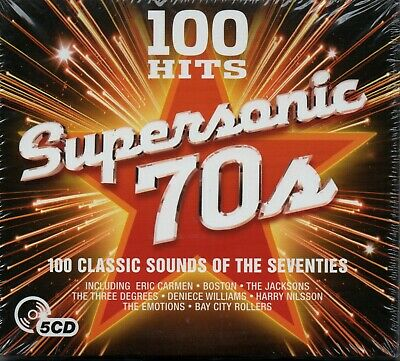 SUPERSONIC 70s (100 HITS) - Various Artists - 5xCD Album *NEW & SEALED*
